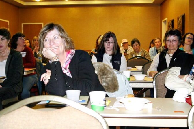 Connie Lohse of Kaycee and other women attend the 1st annual Women's Agriculture Summit in Buffalo, Wyo.