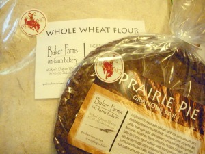 Baker Farms whole wheat flour and Prairie Pie