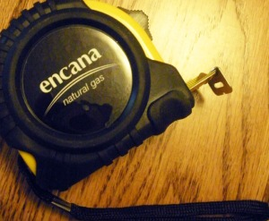 Encana Oil & Gas tape measure