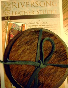 Coasters from Riversong Leather - Artist Leah Burgess