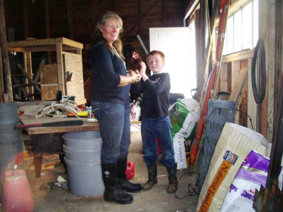 Gail Lee of Saratoga, Wyoming does ranch chores in her Chore boots from The Original Muck Boot Company.