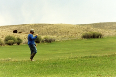 Rancher Jonita Sommers discusses irrigating native grass pastures in the Green River Valley of Wyoming, which can be used for pastureland or for hay production.