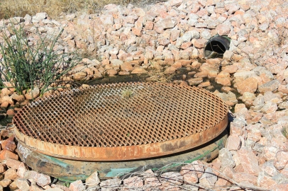 The cement grate is used to get the extra water back to the reservoir