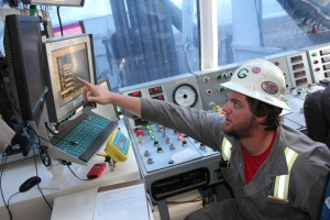 Control room on drilling rig #129 in the Jonah Field near Pinedale Wyoming, operated by Encana Oil and Gas to produce natural gas for American Energy supplies.