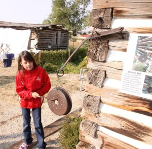 The Big Piney 4th Grade visits the Historic Sommers Ranch Homestead in Pinedale, Wyoming where they experienced life as a homesteader.