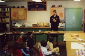 My High School FFA Chapter always hosted workshops and a petting zoo for the local elementary school kids during National FFA Week. Here I am talking about where food comes from. (hint: it's not just the grocery store)