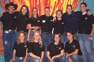 A fun time at the annual FIRE Conference (a Wyoming FFA leadership conference).