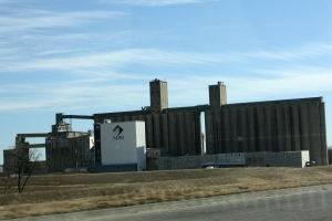 Grain elevator in Southern Kansas