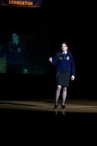 Giving my Retiring Address at the 2006 Wyoming FFA Convention
