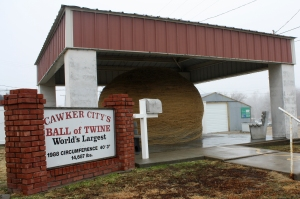 The World's Largest Ball of Twine at Cawker City, Kansas