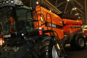 "The ""Tribine"" was one of the biggest hits at Ag Connect this year. This new innovation is a combine that also holds 1,000 bushels of grain (enough to fill a semi trailer)."