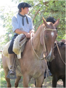 Gaucho near San Antonio de Aerco, Argentina—notice the number of saddle blankets and cinches