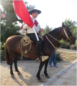 Hausa (cowboy) between Valparaiso and Santaigo, Chile