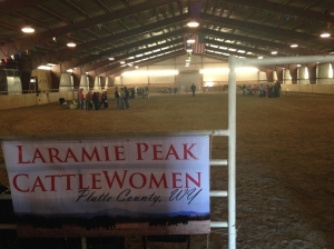 The 2014 Laramie Peak CattleWomen Ag Expo was hosted by Top Hat Arena in Wheatland. About 175 elementary students attended the event.